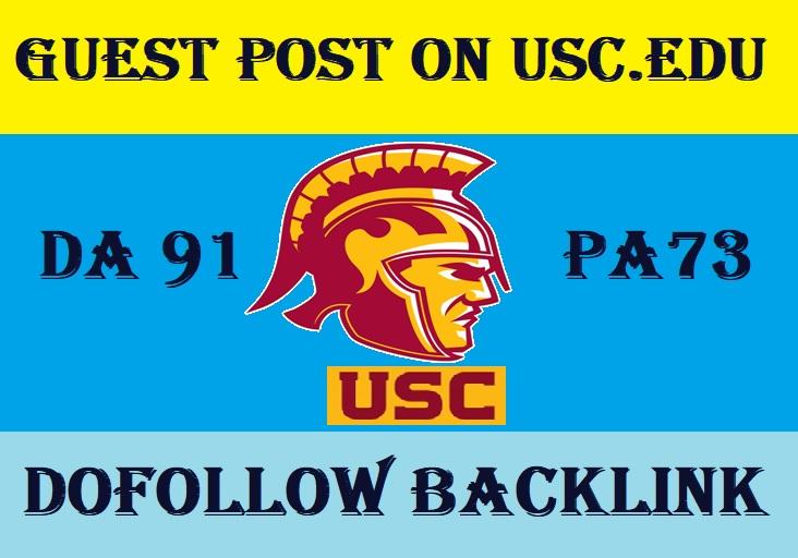 Publish Article on USC. edu DA90 PA92 with Backlinks