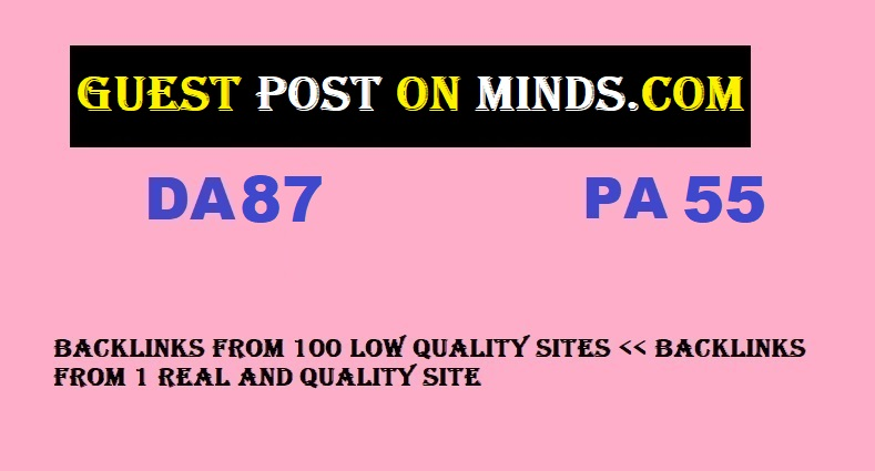 Guest Post on MINDS. com with DA87 PA55