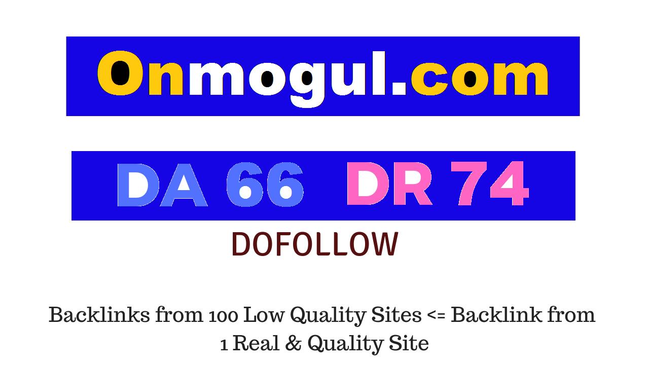 Guest Post on Onmogul. com DA66 DR74