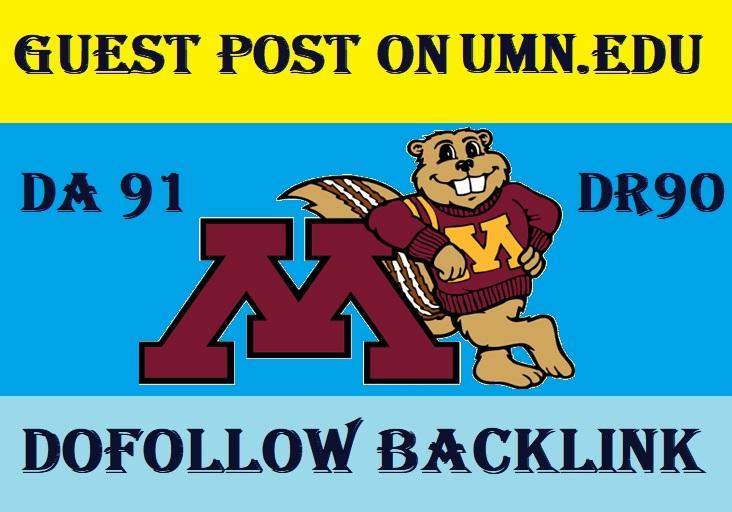Guest Post on UMN. EDU DA91 DR90 with Backlinks