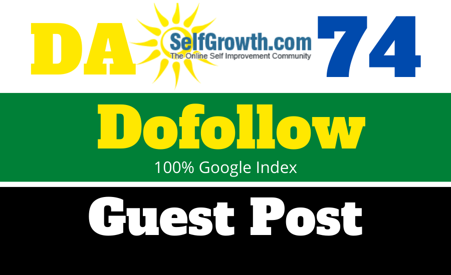 Publish Article On Selfgrowth.Com with Dofollow Backlinks