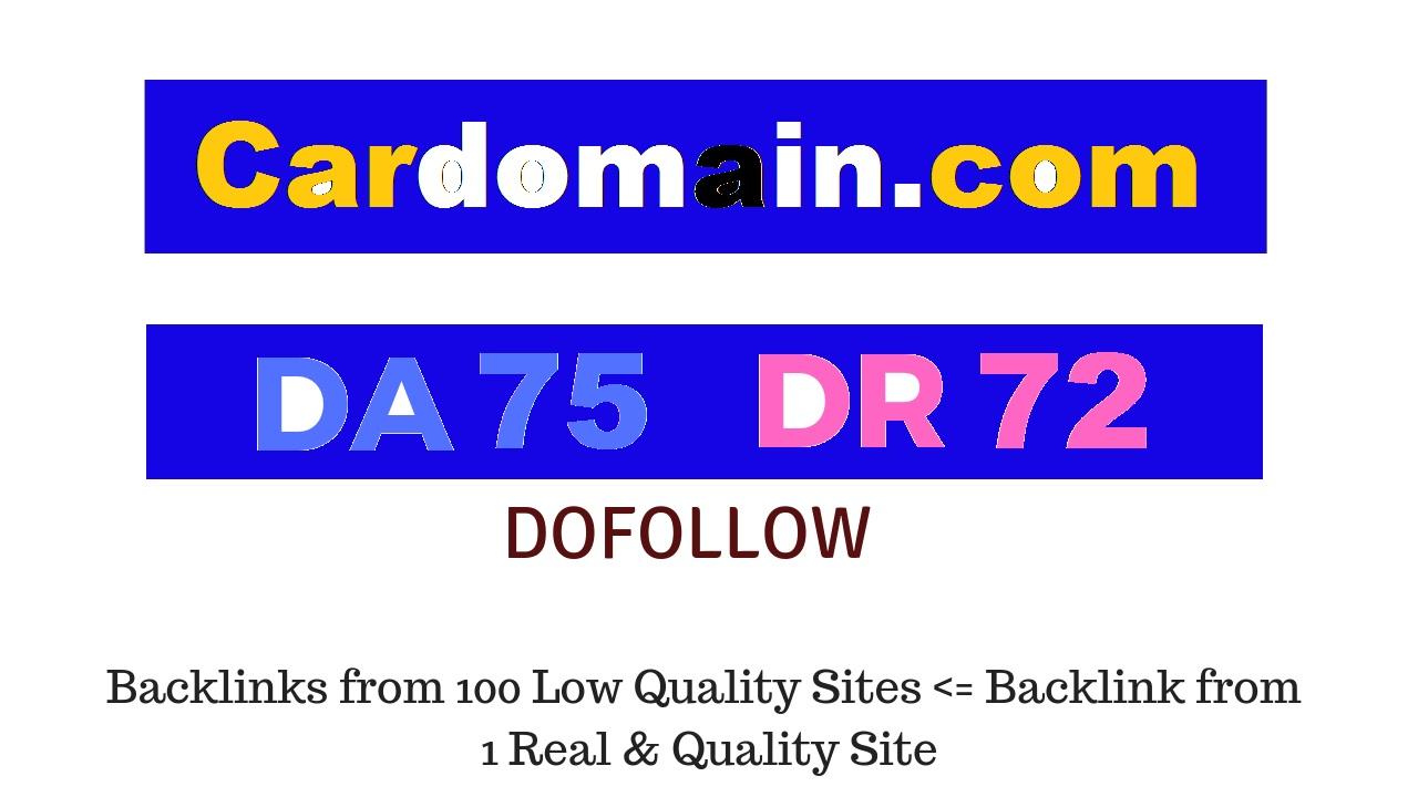 Publish Guest Post on Cardomain. com DA75 DR72