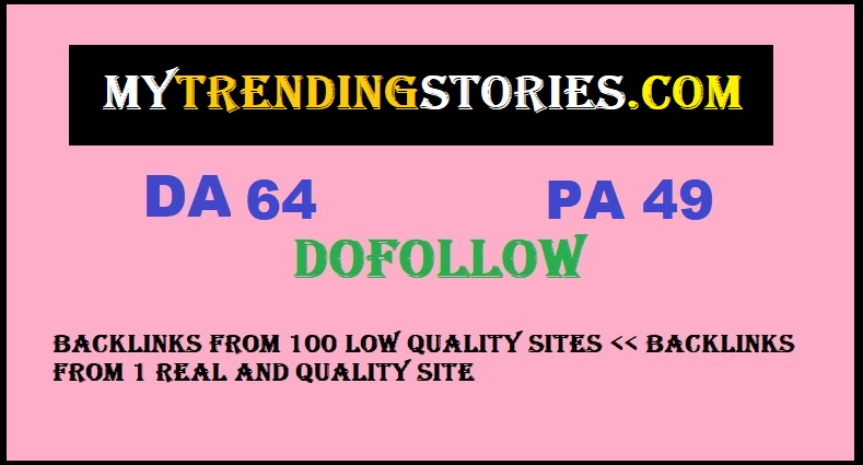 Guest Post on MYTRENDINGSTORIES. com with DA64 PA49