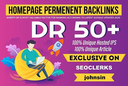Build 20 Manual High dr50 Plus Homepage PBN Dofollow Backlinks