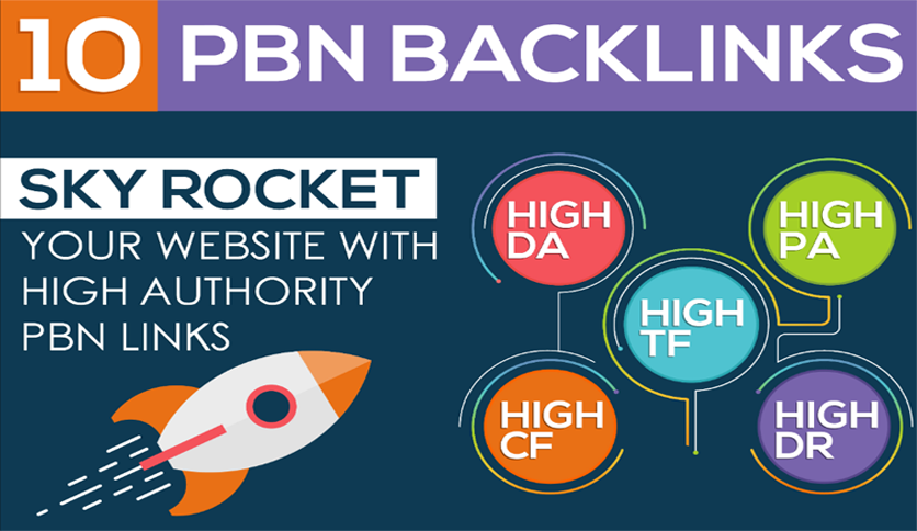 I will Provide DA PA CF + PBN Backlinks On 10 Unique Domains PBN