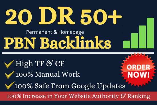 I will do 20 high DR 50 Permanent Homepage Backlinks