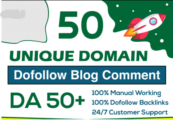 I Will Do 50 Unique Blog Comments Actual Page High Da Pa Links Manually