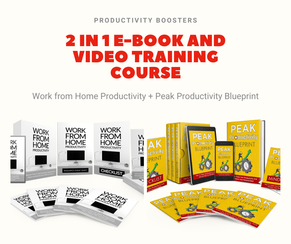 2 in 1 Ebook and Video Training Course for Work From Home Productivity and Peak Productivity PLR MRR