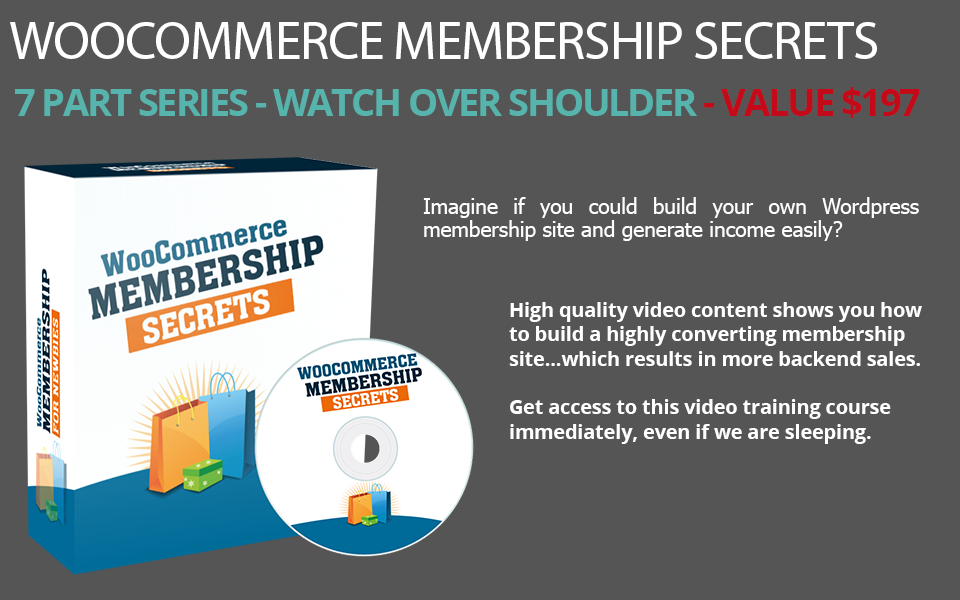 Make your own WordPress Membership site with this Video Training