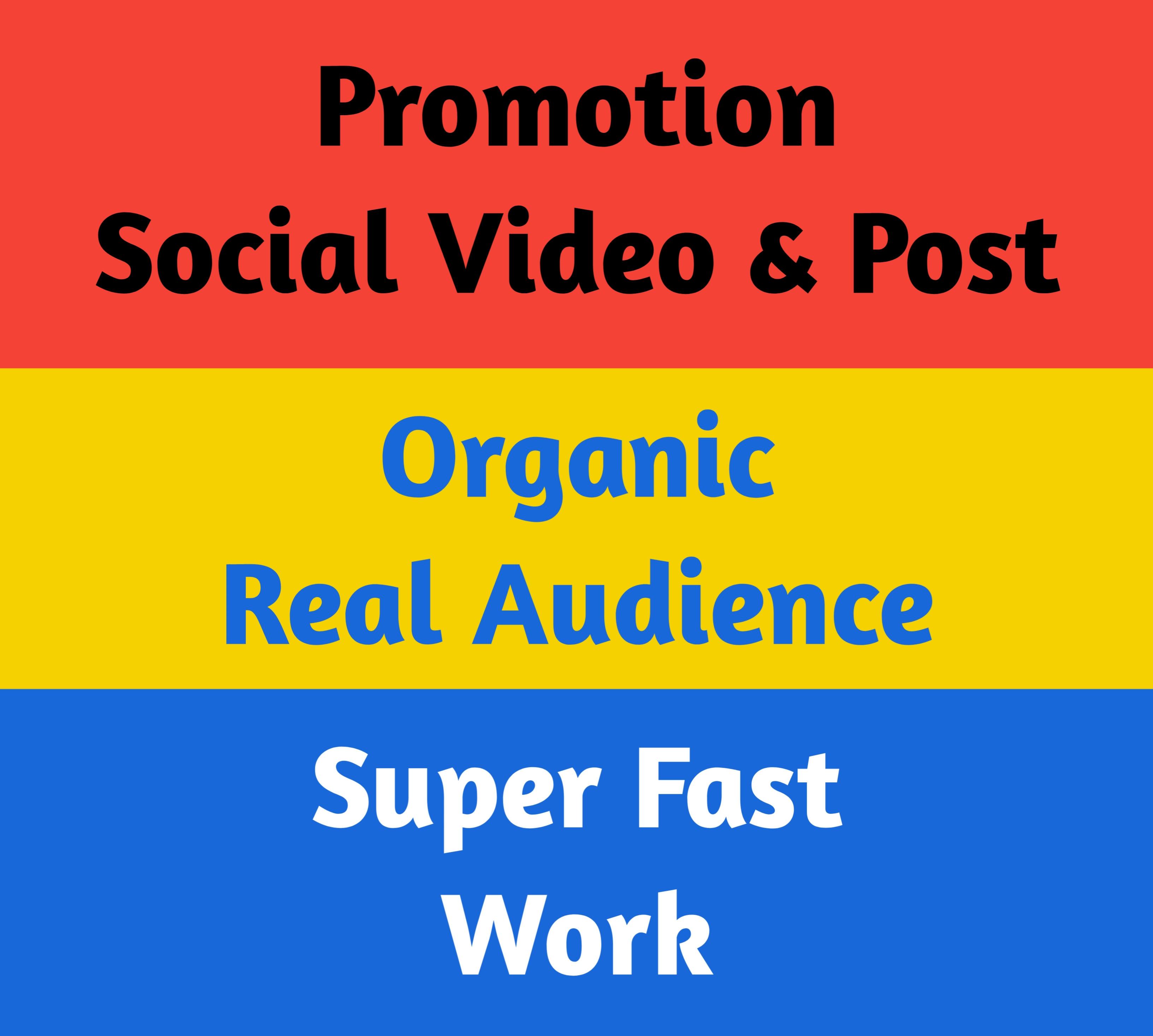 Social Post and Video Promotion and Marketing
