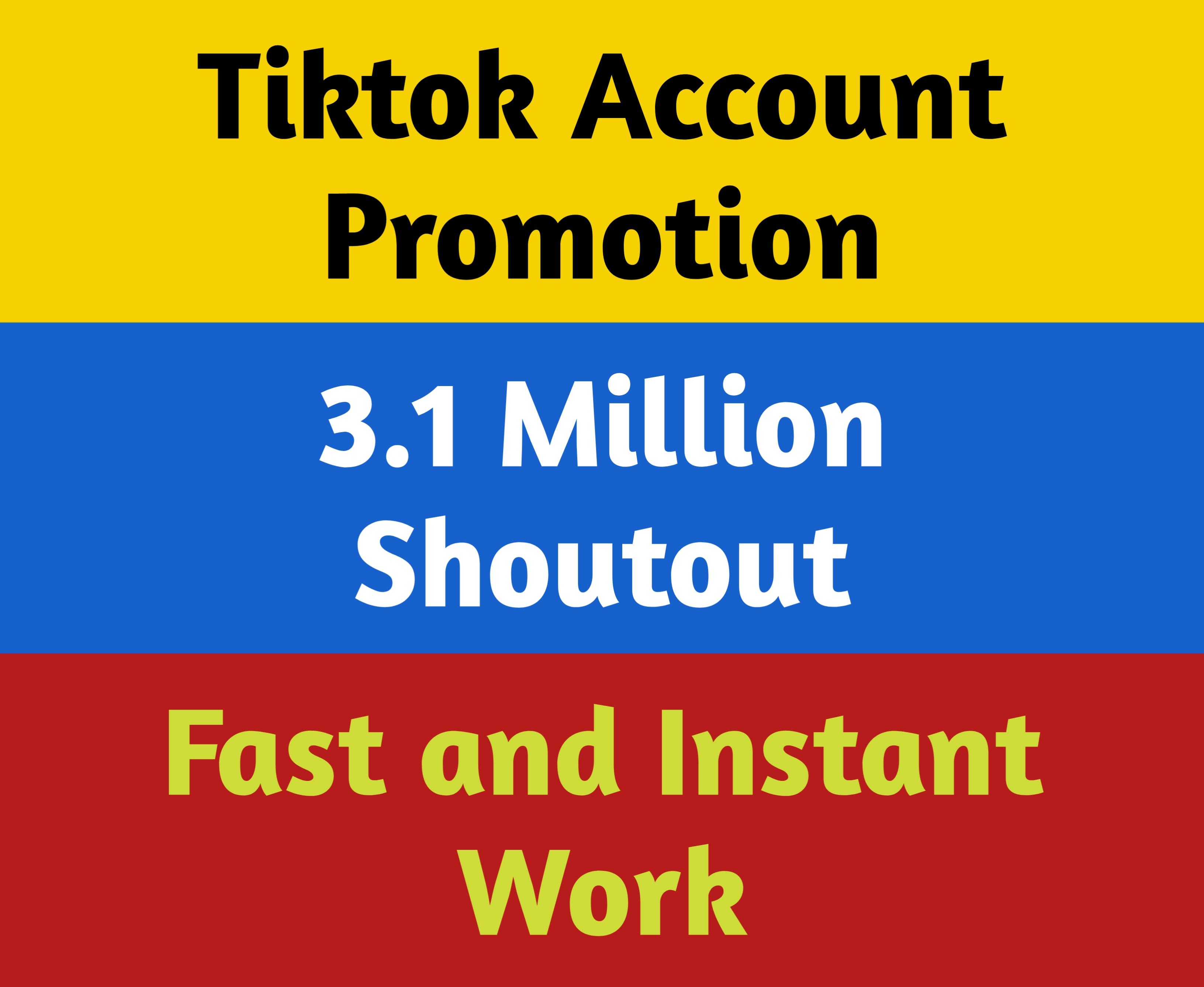 Tiktok Account Marketing and Promotion 3.1 Million Social Audience