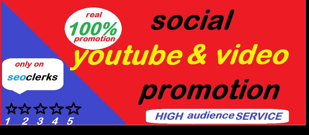 YouTube Video Promotion Via Organic Social real Audience