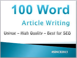 100 words unique Article Writing / Content Writing for your website/blog