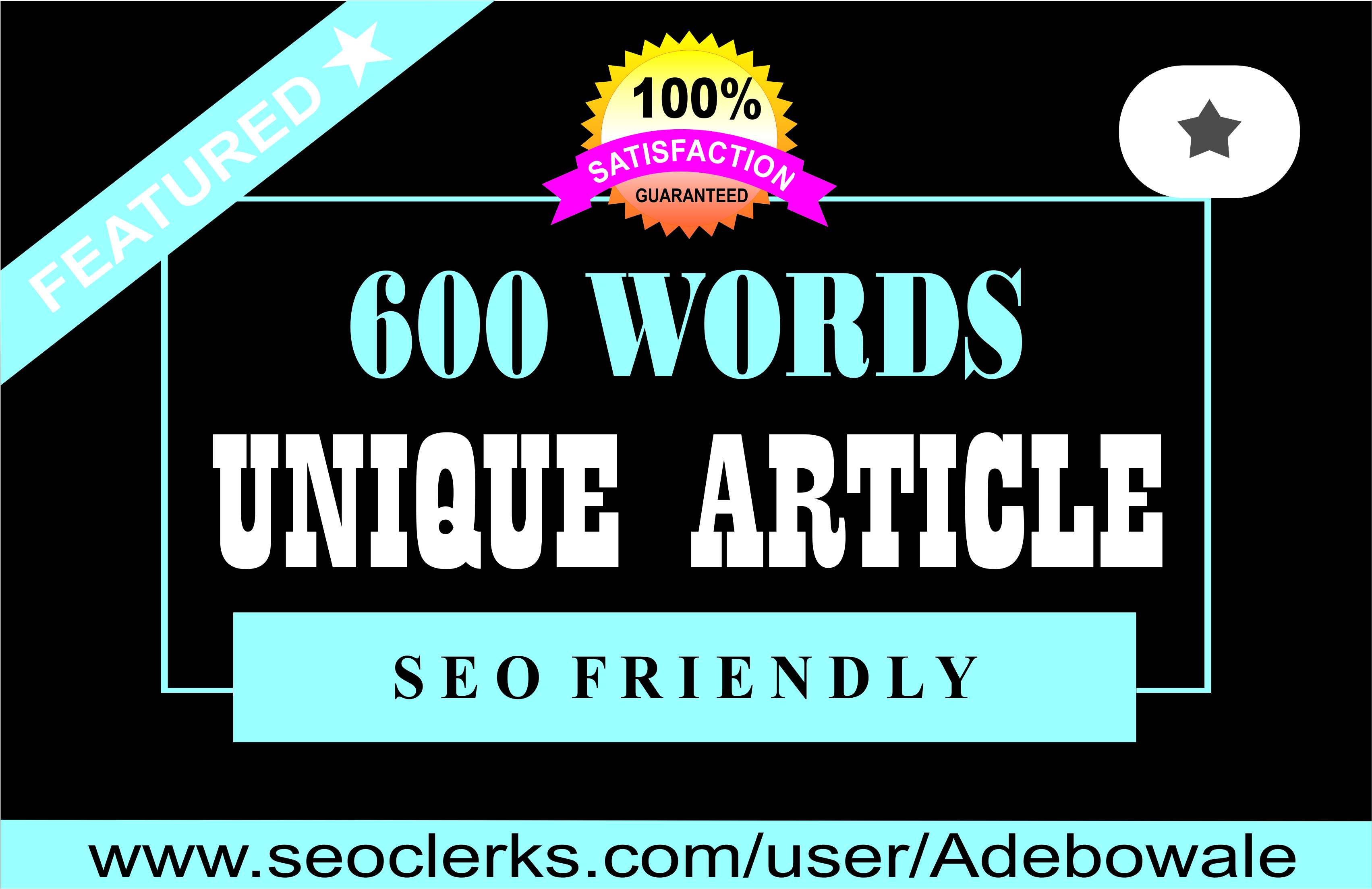 600 words SEO optimized Article Writing,  Content Writing for your website/blog