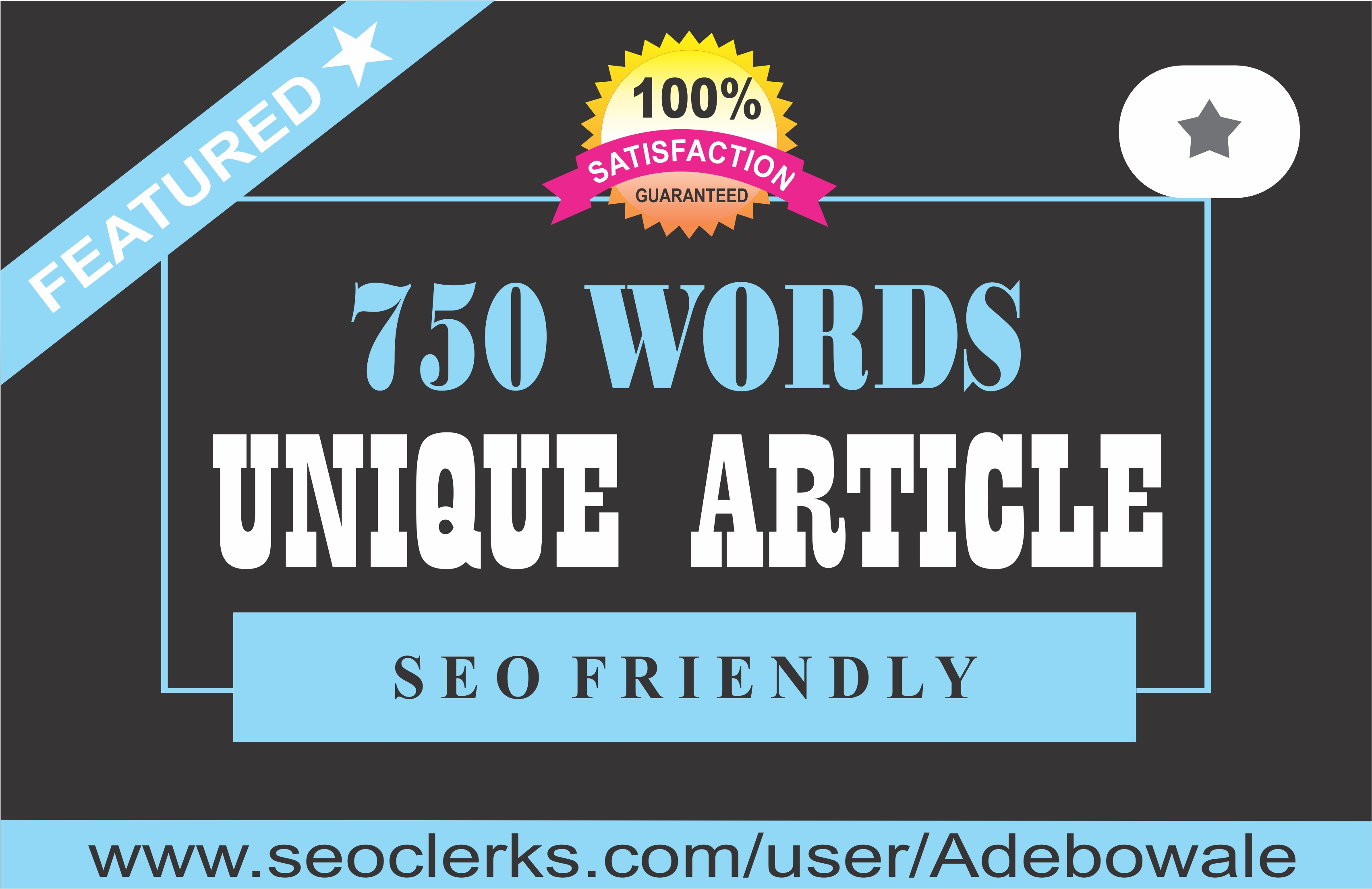 750 words Well-Written,  SEO Optimized Article Writing,  Content Writing
