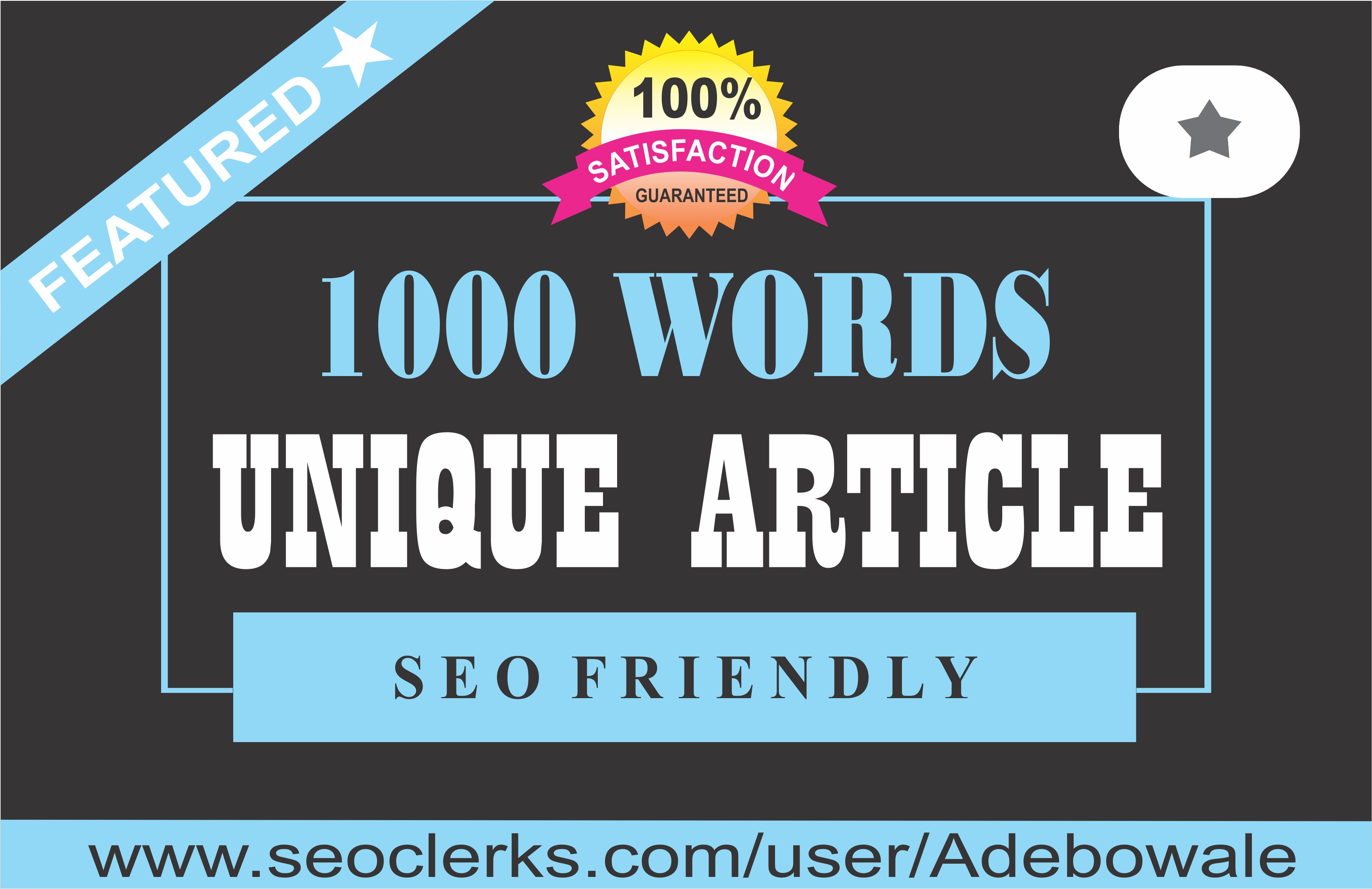 1000 words unique,  optimized Article Writing,  Content Writing for your website/blog