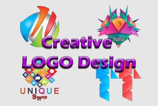 I will design creative professional logos