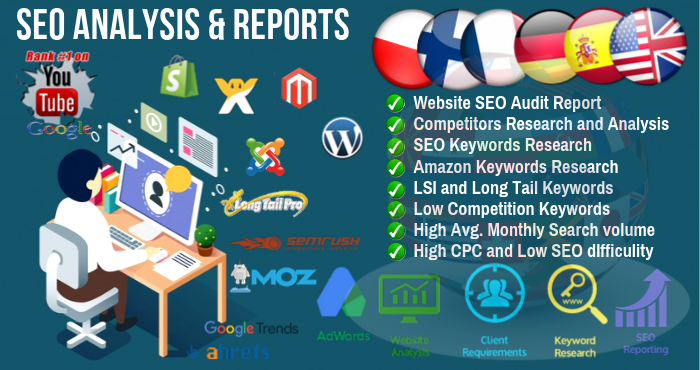 I will do In depth Keyword research, Competitor Analysis And SEO Audit Report
