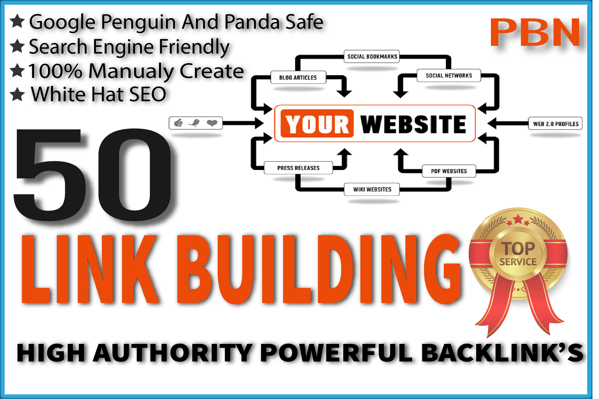 do google SEO with high authority 60 backlink,  link building
