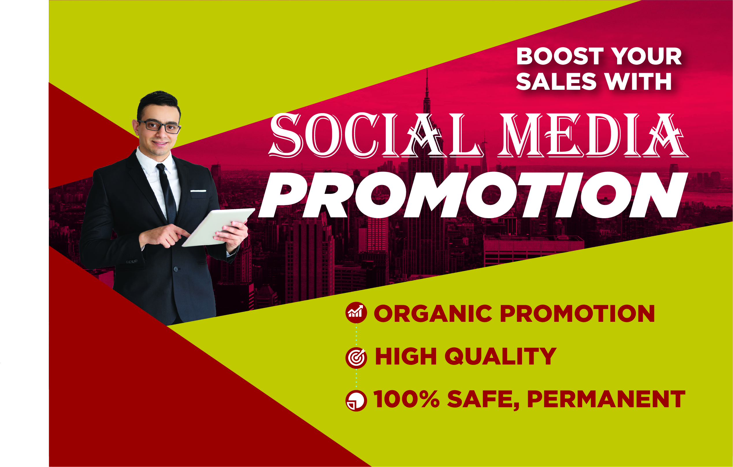 Website marketing and promote social media site and real promotion