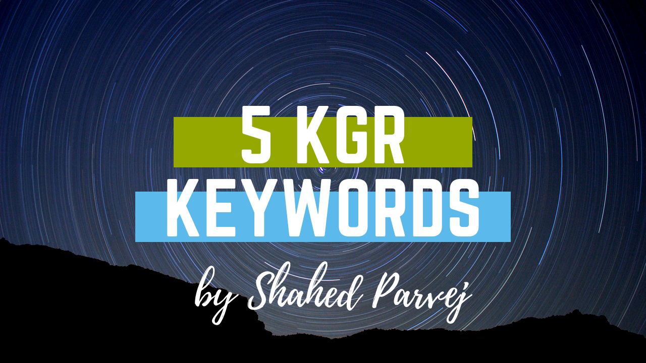 I will provide best KGR Keywords