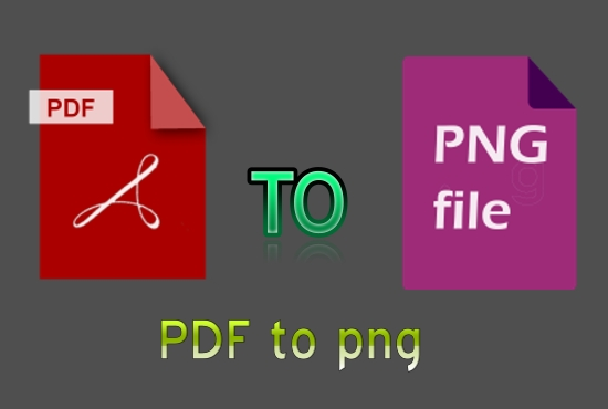 I will convert PDF files to png with smart work.