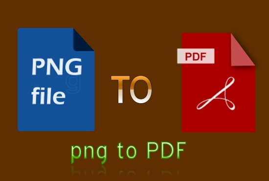 I will convert png files to PDF with more work.