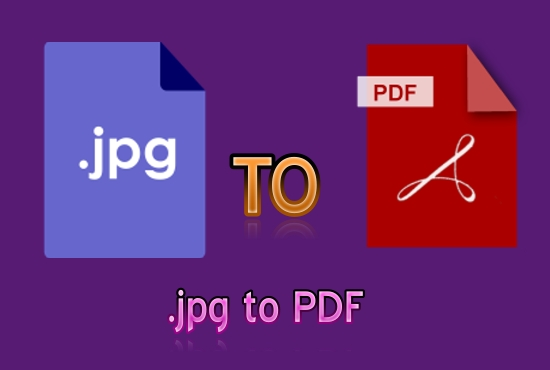 I will convert jpg to PDF with good work.