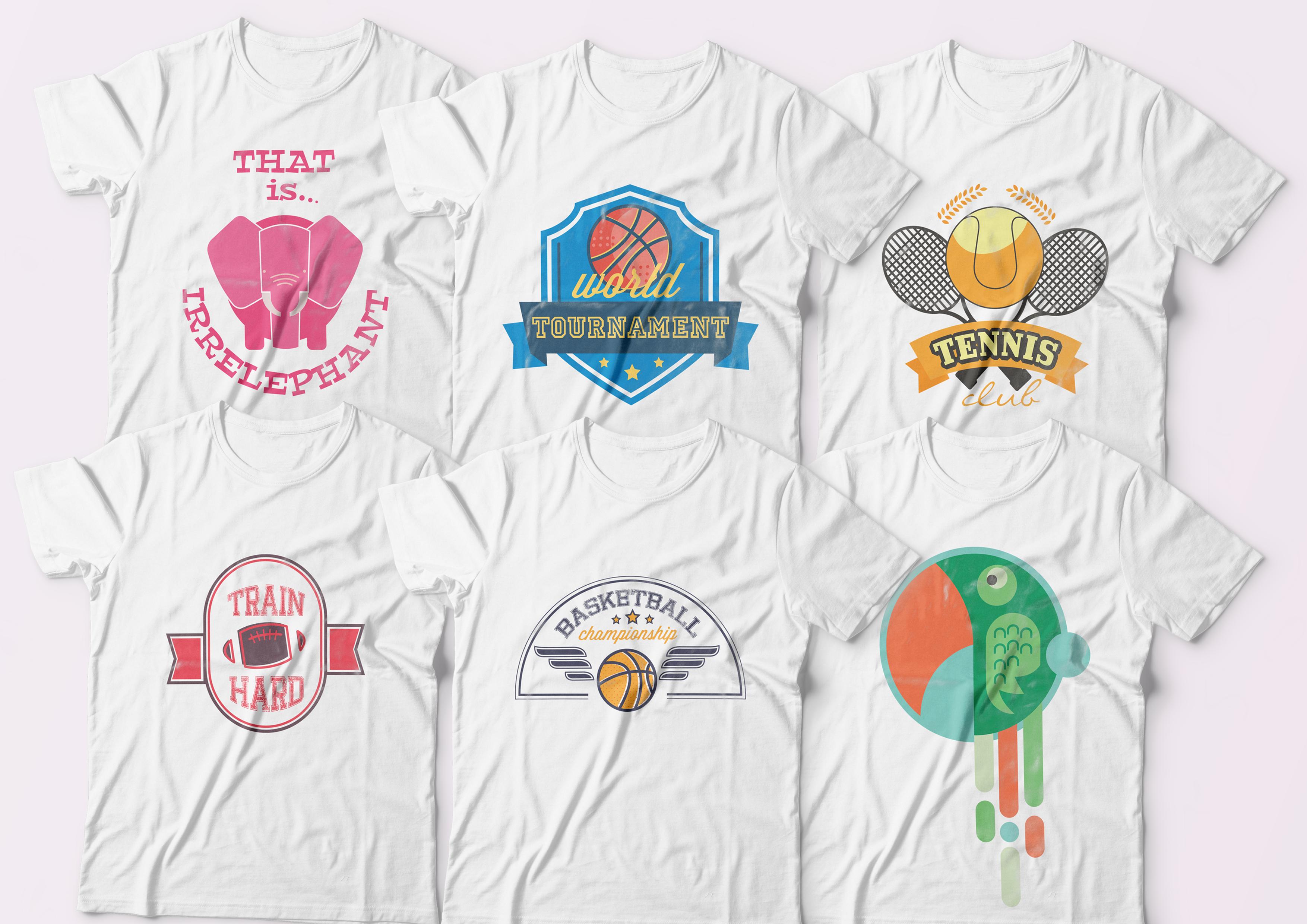 I will send 5000 tshirt design, bonus font and mockup