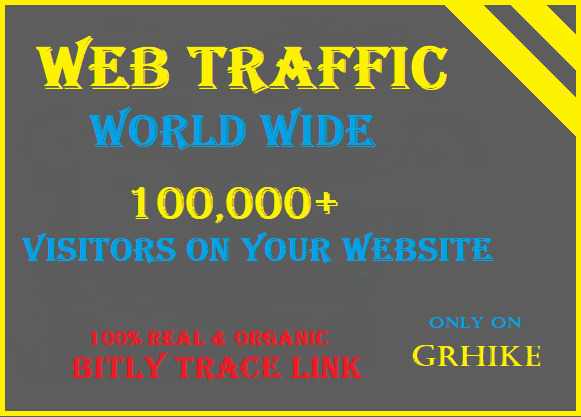 Drive one lac world wide Real Traffic to your website