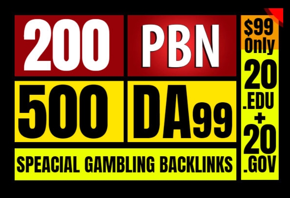 I Will Provide All In One Service PBN. Edu. Gov And High DA-PA SEO Backlinks CASINO POKER