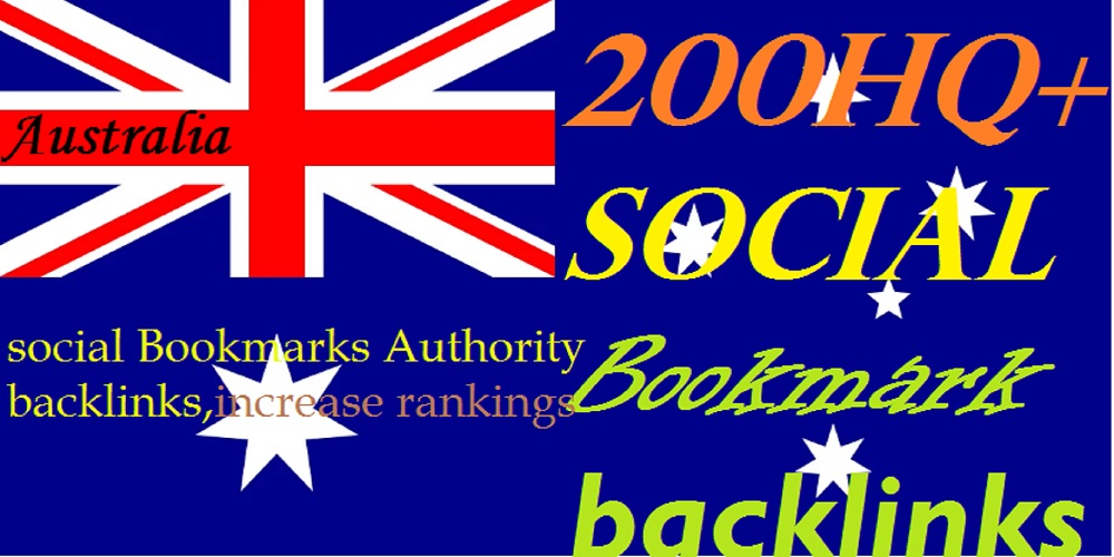 I will submit200 HQ Australian social bookmarks
