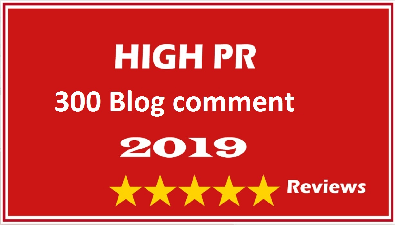 I will provide 300HQ+blog comment backlinks