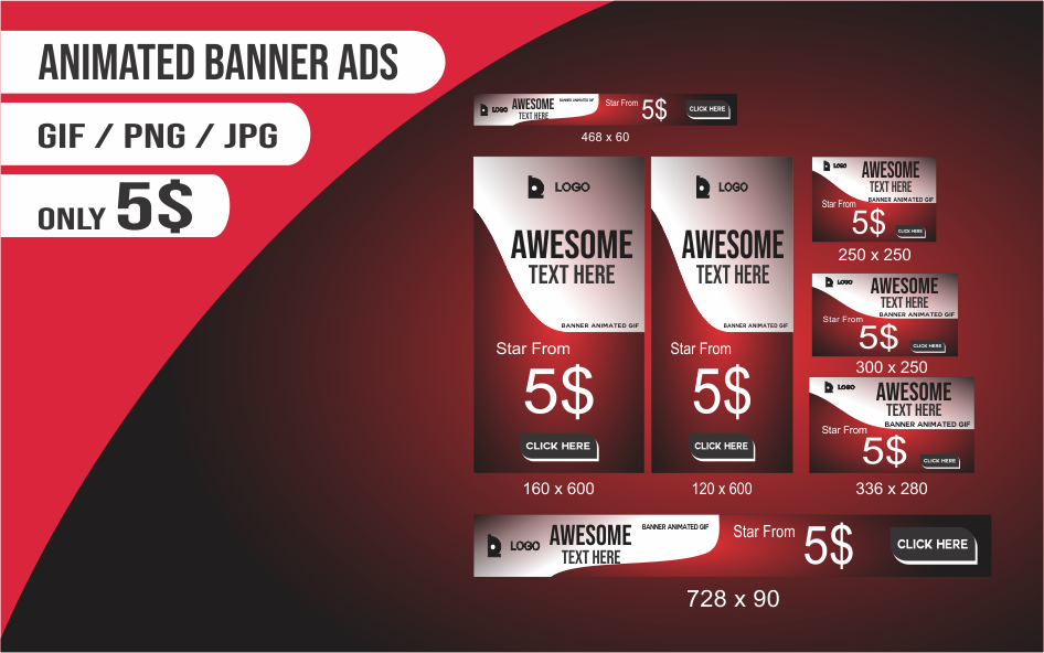 banner design ads or banner animated gif