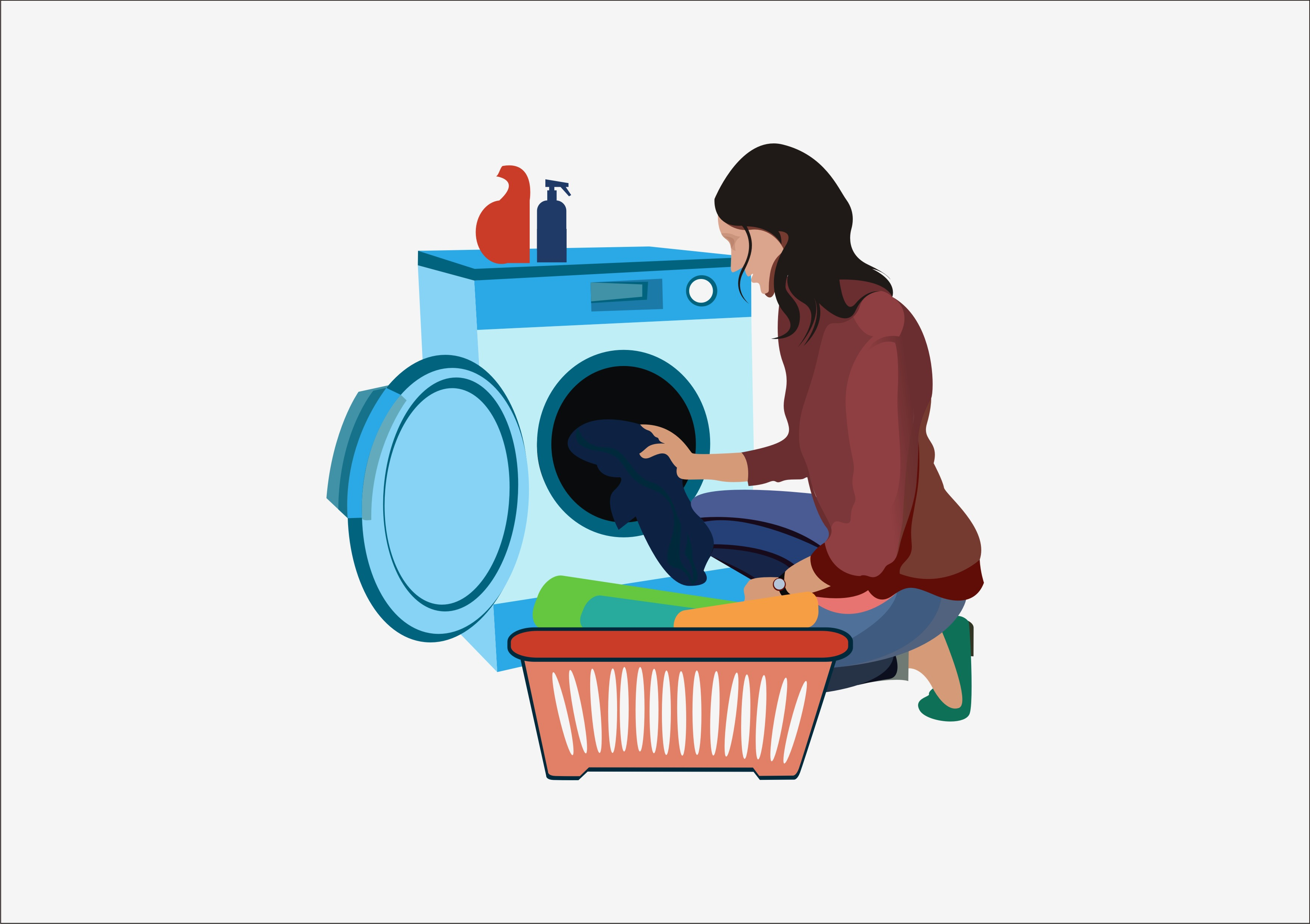 icon,  vector,  illustration of people washing