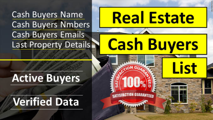 I will provide active real estate buyers for your real estate properties
