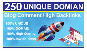 250 unique domain Do-folow High DA Blog Comment Backlinks