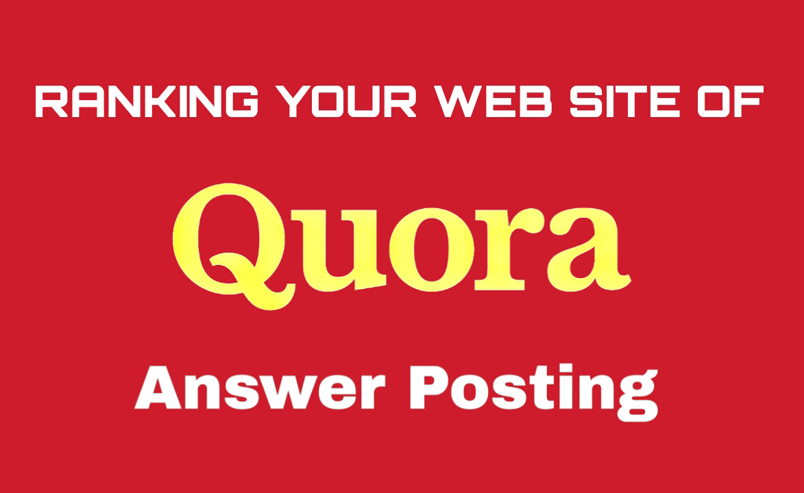 Offer 10 high quality Quora answer for target traffic