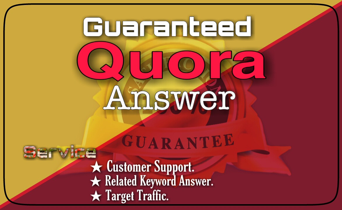 Offer 50 high quality Quora answer for target traffic