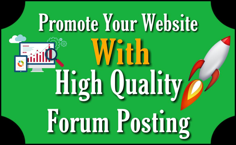 Forum Posting Service 50 Unique Domains 50 High Quality Contextual Links DA20+ PA20+