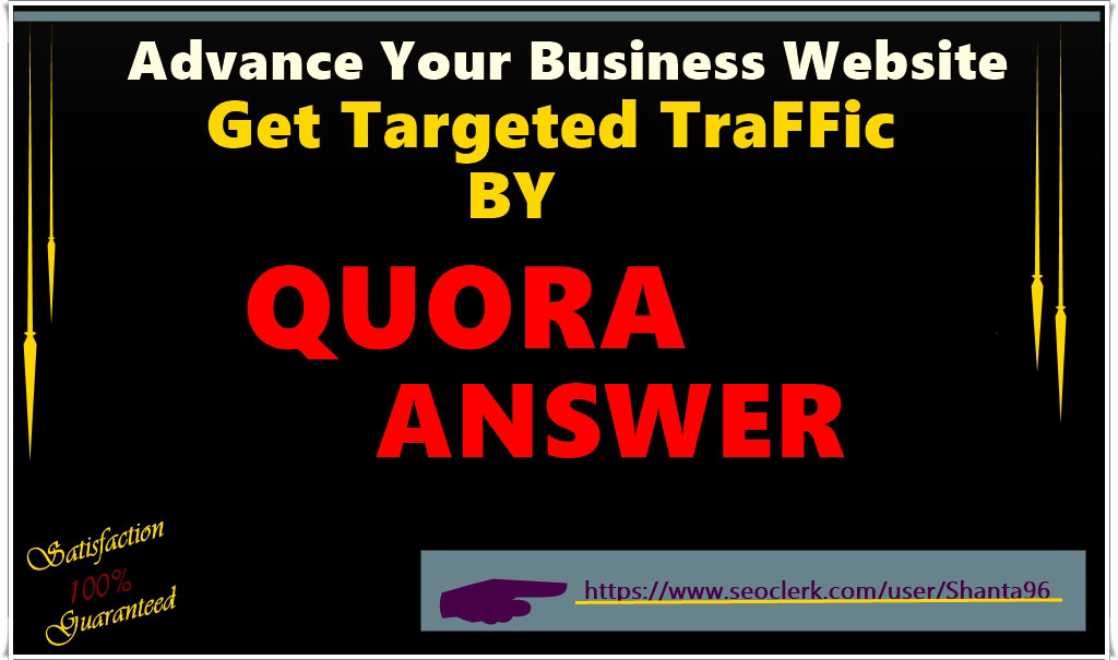 Promote your website highly engaging 15 Quora answers with guaranteed upvote