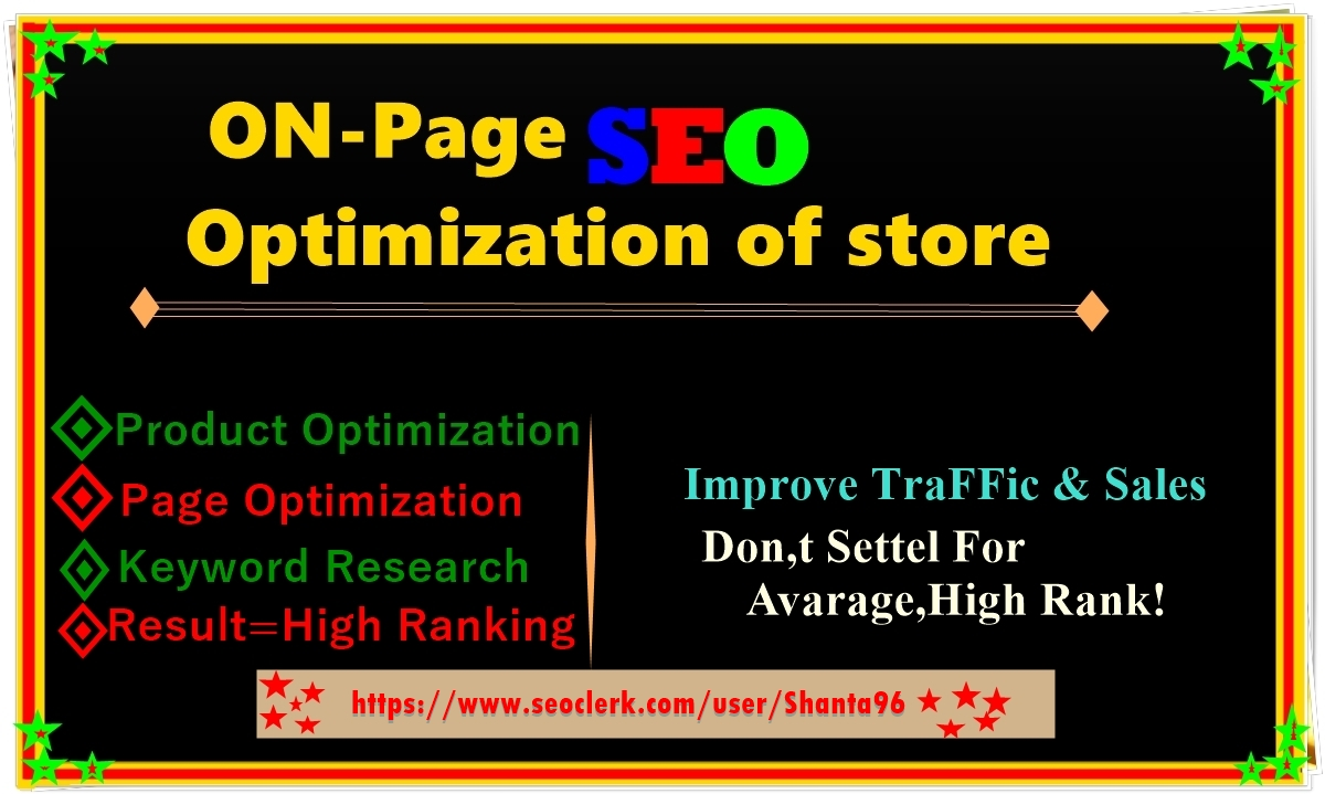 I will do on page SEO with yoast optimization