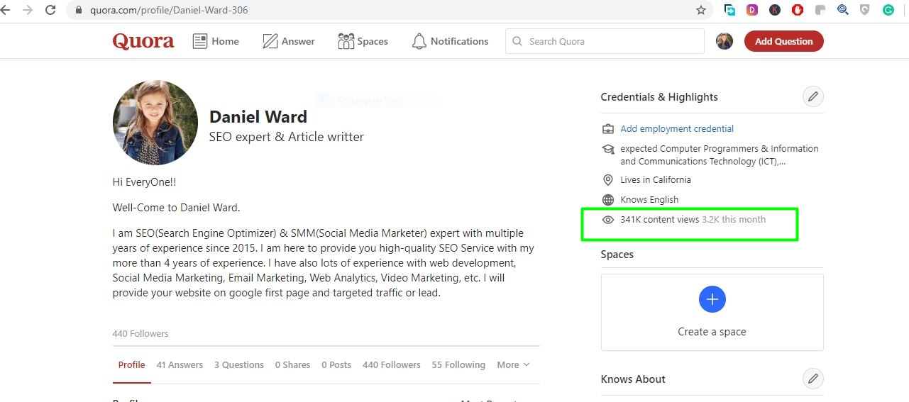 Promote your website with 5 Quora Answers with contextual link