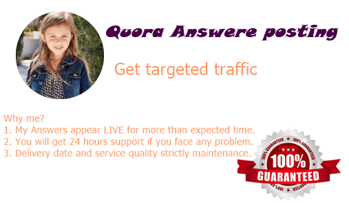 Promote your website with 50 Quora Answers with contextual link