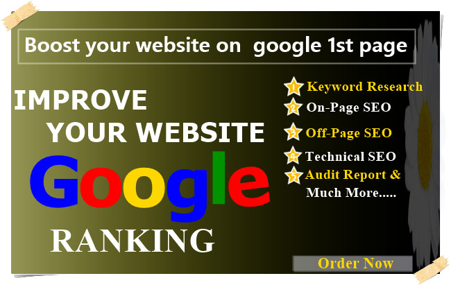 I will provide,  boost your website on google 1st page ranking with pointed SEO technic.