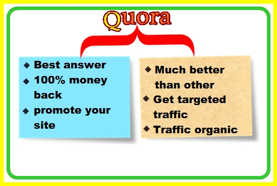 promote your website and build 50 quora answer backlinks with your link