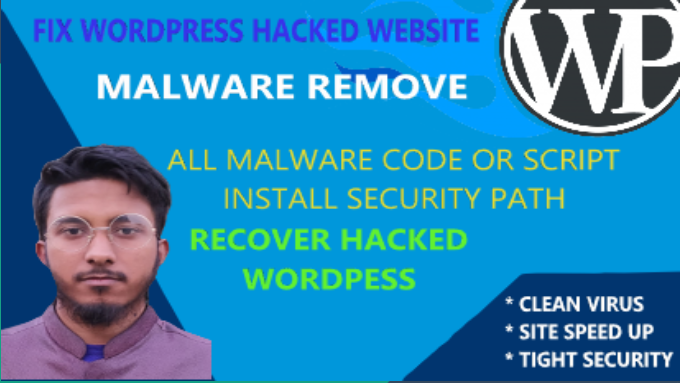 Remove malware and fix hacked wordpress website in 24 hour