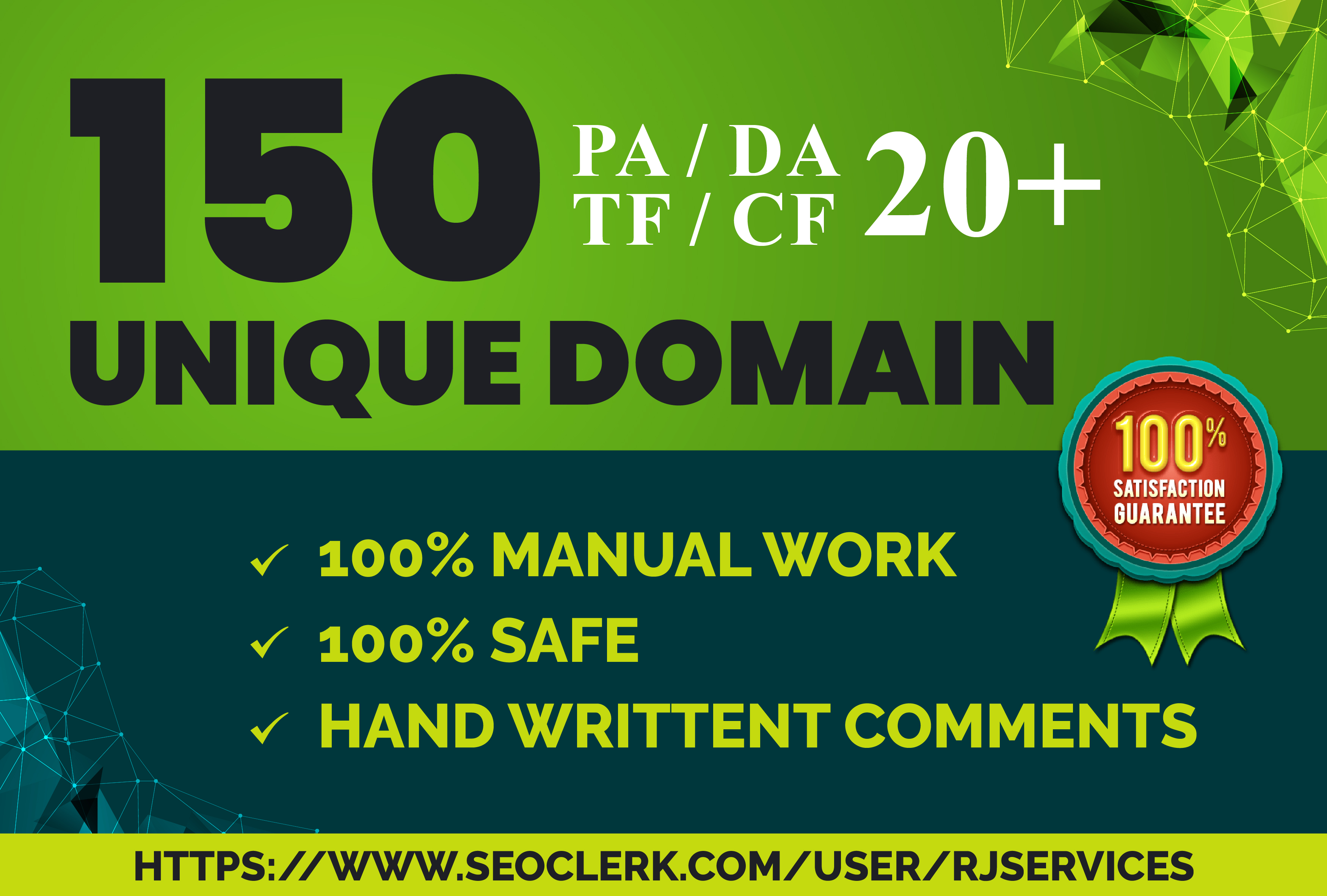 High Authority Unique domains 150 Quality Do follow blog comments just in
