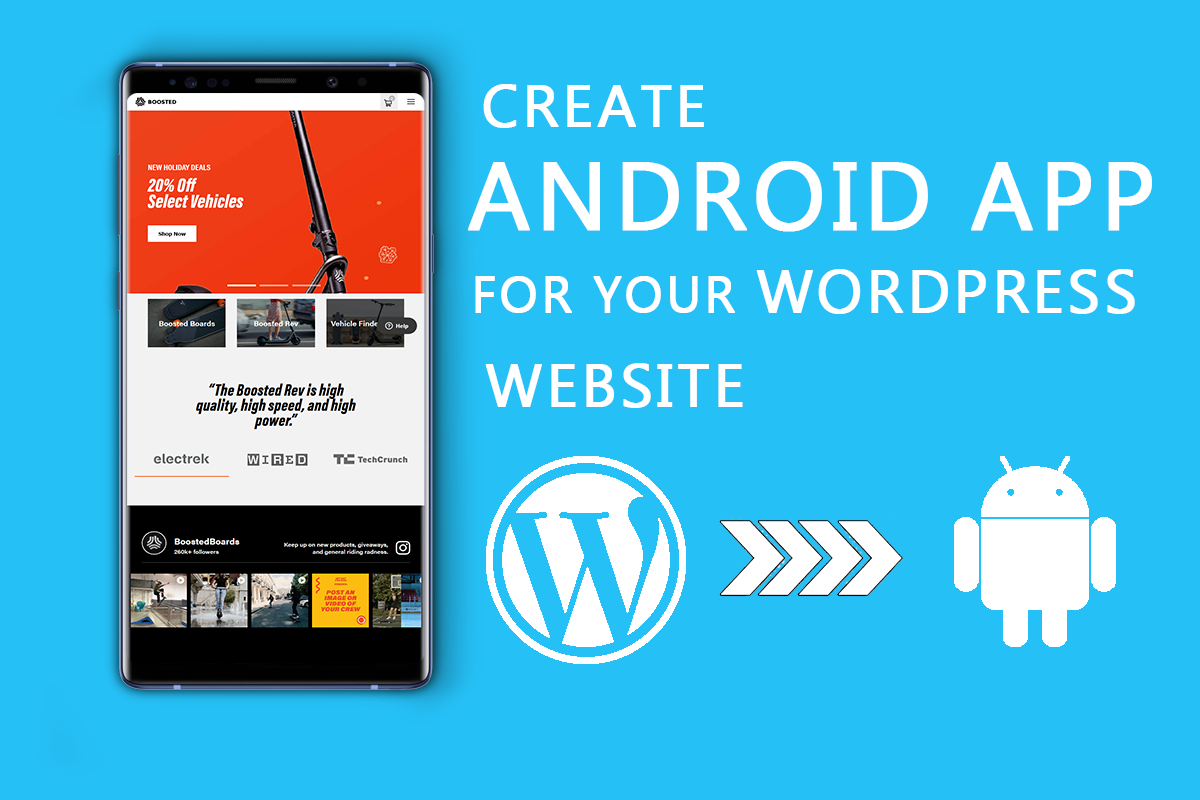 I will convert your WordPress Website into a responsive Android App.