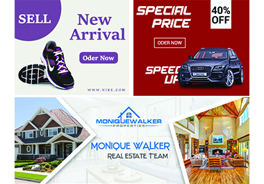 I will design 5 professional web banners for ads